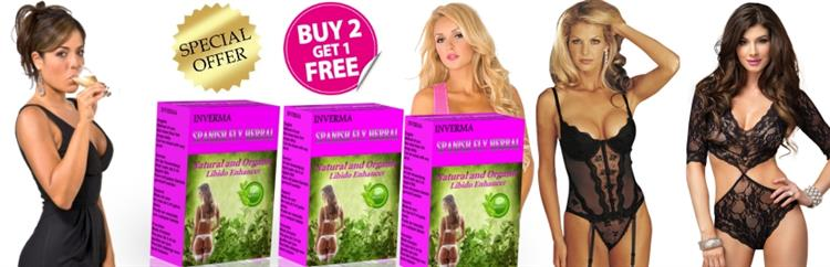Spanish Fly herbal Love Drops promoted by Models with the products