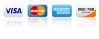 All credit and debit cards accepted for purchasing products
